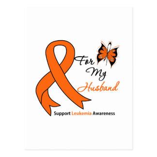 Leukemia - For My Husband Postcard
