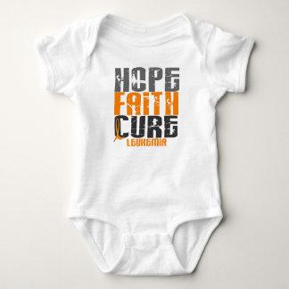 Leukemia HOPE FAITH CURE Tee Shirt