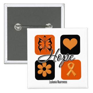 Leukemia Hope Love Inspire Awareness 15 Cm Square Badge