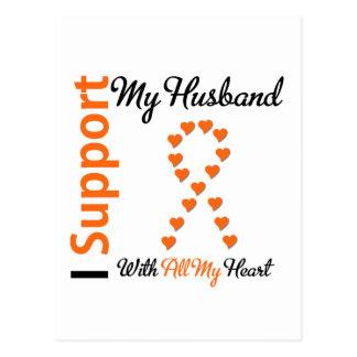 Leukemia I Support My Husband Postcard