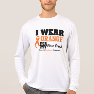 Leukemia I Wear Orange Best Friend Tees