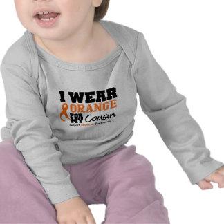 Leukemia I Wear Orange For Cousin T-shirts