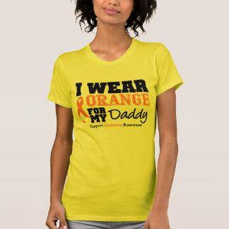 Leukemia I Wear Orange For Daddy Shirts