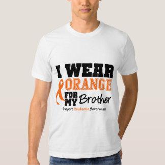 Leukemia I Wear Orange For My Brother Shirts