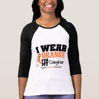 Leukemia I Wear Orange For My Daughter Tshirts
