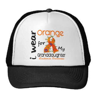 Leukemia I Wear Orange For My Granddaughter 43 Cap