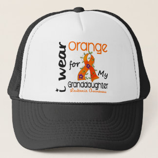 Leukemia I Wear Orange For My Granddaughter 43 Trucker Hat
