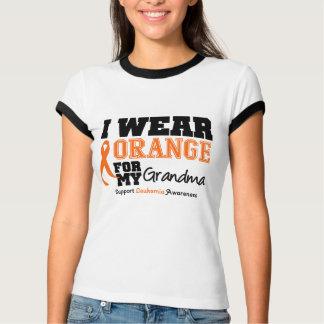 Leukemia I Wear Orange For My Grandma Shirts