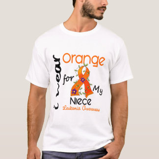 Leukemia I Wear Orange For My Niece 43 T-Shirt