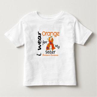 Leukemia I Wear Orange For My Sister 43 Toddler T-Shirt