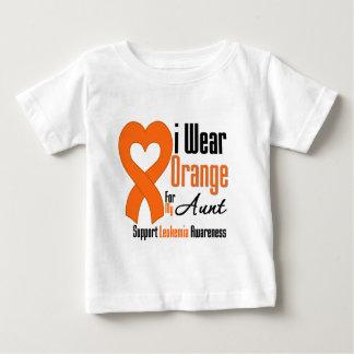 Leukemia I Wear Orange Ribbon For My Aunt Tees