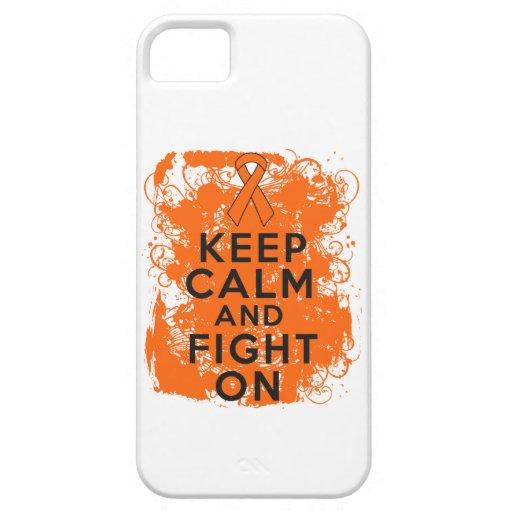 Leukemia Keep Calm and Fight On iPhone 5 Case