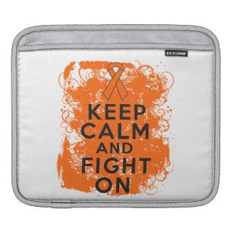 Leukemia Keep Calm and Fight On iPad Sleeves