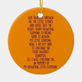 Leukemia Memorial Poem Christmas Ornament