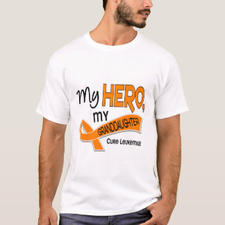 Leukemia MY HERO MY GRANDDAUGHTER 42 T-Shirt