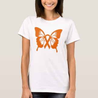 Leukemia Orange Butterfly t-shirt