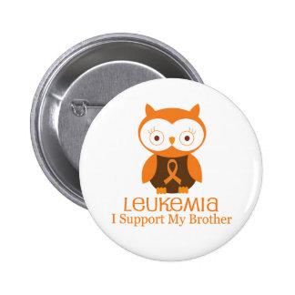 Leukemia Orange Ribbon Button Brother