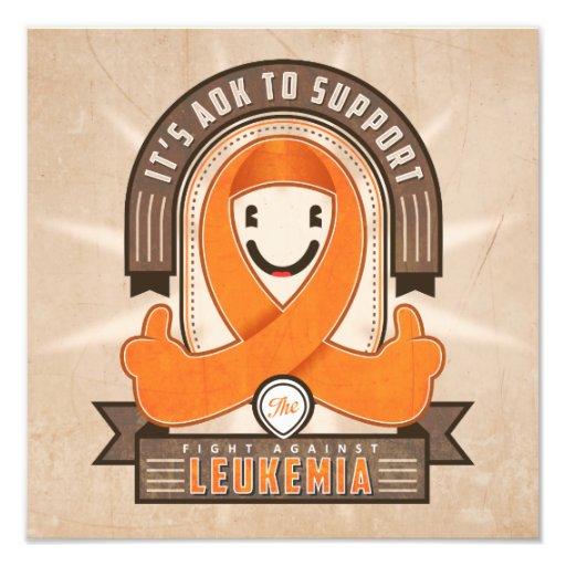 Leukemia - Retro Charity Ribbon - Photo Print