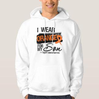 Leukemia Ribbon For My Son Hooded Sweatshirt