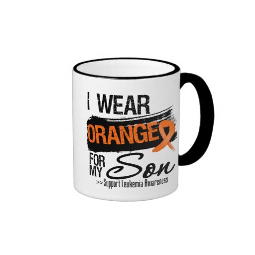 Leukemia Ribbon For My Son Coffee Mugs