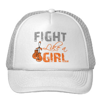 Leukemia Ribbon Gloves Fight Like a Girl Hats