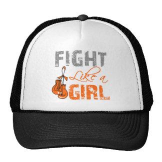 Leukemia Ribbon Gloves Fight Like a Girl Mesh Hat