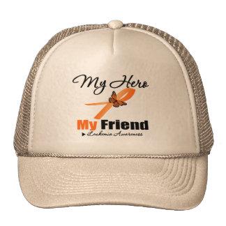 Leukemia Ribbon My HERO My Friend Mesh Hats