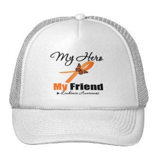 Leukemia Ribbon My HERO My Friend Hat