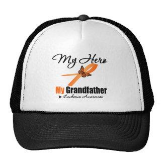 Leukemia Ribbon My HERO My Grandfather Mesh Hats