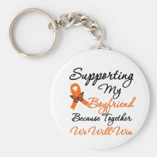 Leukemia Supporting My Boyfriend Key Chain