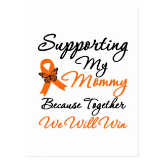 Leukemia Supporting My Mommy Postcard