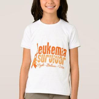 Leukemia Survivor Flower Ribbon T-shirt