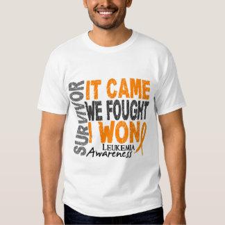 Leukemia Survivor It Came We Fought I Won T-shirts