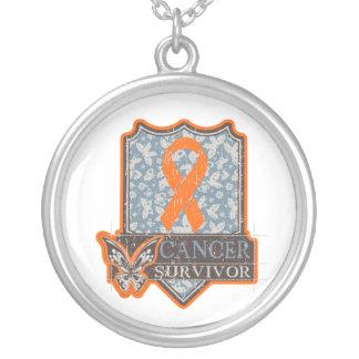Leukemia Survivor Vintage Butterfly Necklace