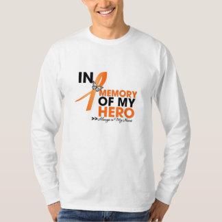 Leukemia Tribute In Memory of My Hero.png T-shirts