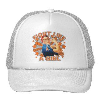 Leukemia Vintage Rosie Fight Like A Girl Trucker Hats