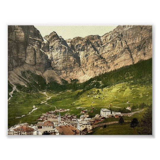 Leukerbad, Valais, Alps of, Switzerland vintage Ph Poster