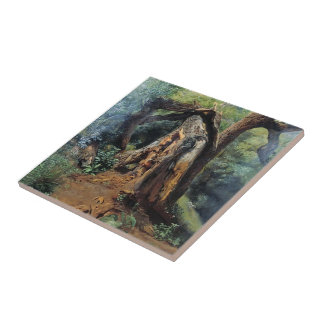 Lev Lagorio- An old tree Tile