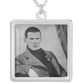Lev Nikolaevich Tolstoy  as a student Silver Plated Necklace