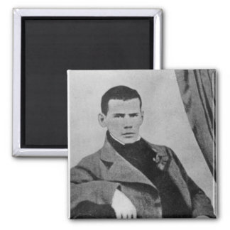 Lev Nikolaevich Tolstoy  as a student Square Magnet