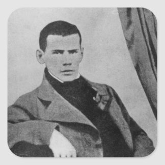 Lev Nikolaevich Tolstoy  as a student Square Sticker