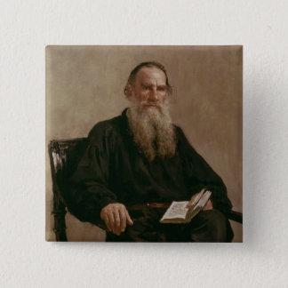 Lev Tolstoy  1887 15 Cm Square Badge