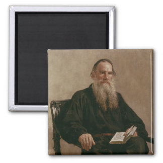 Lev Tolstoy  1887 Square Magnet