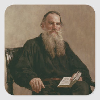 Lev Tolstoy  1887 Square Sticker