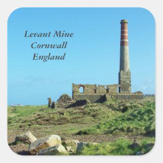 Levant Mine Cornwall England Photo Square Sticker