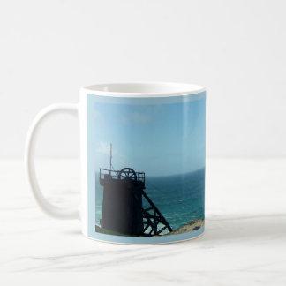 Levant Mine Cornwall England Poldark Location Basic White Mug