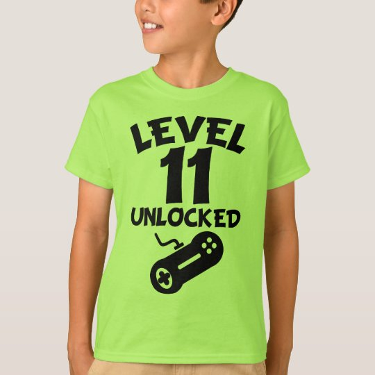 Level 11 Unlocked Video Games 11th Birthday T-Shir