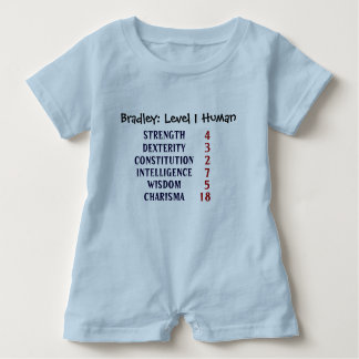 Level 1 Human Personalized Baby Bodysuit