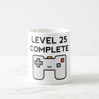Level 25 Complete 25th Birthday Coffee Mug