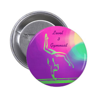 Level 3 Gymnast button 2 Inch Round Button
